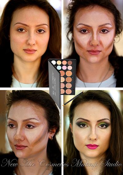 Как уменьшить нос с помощью макияжа глаз